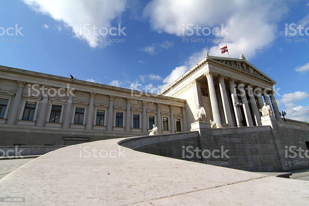 Parliament in Vienna stock photo