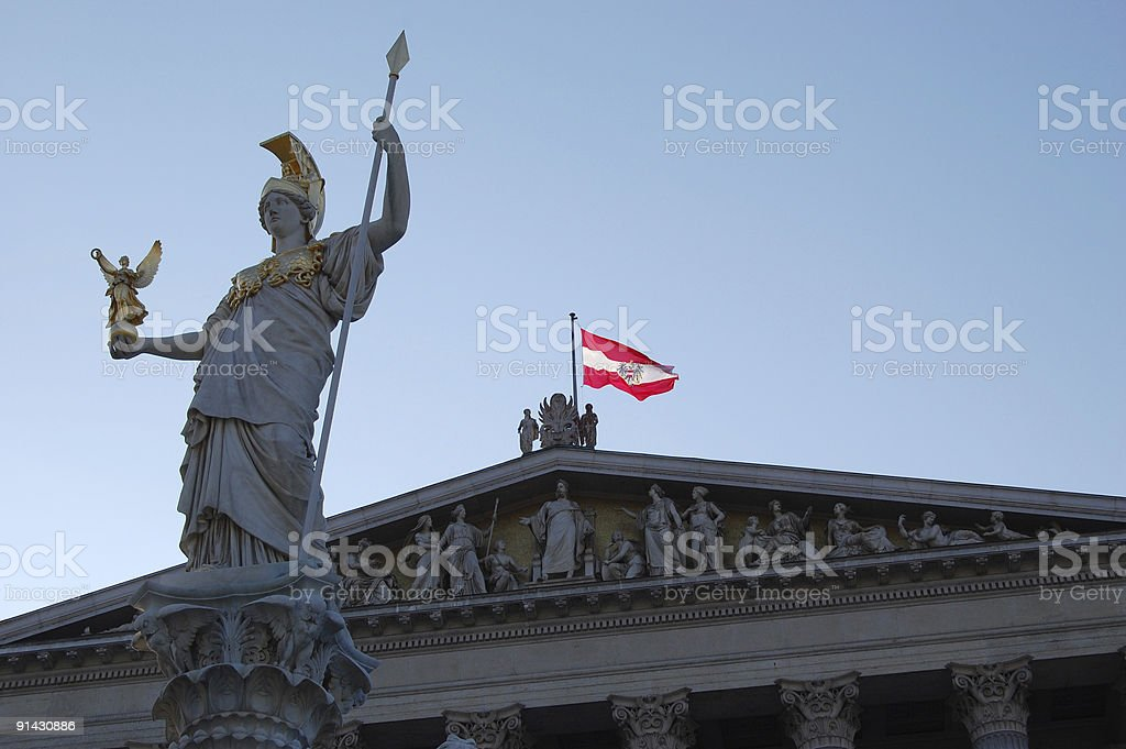 Parlament in Vienna royalty-free stock photo