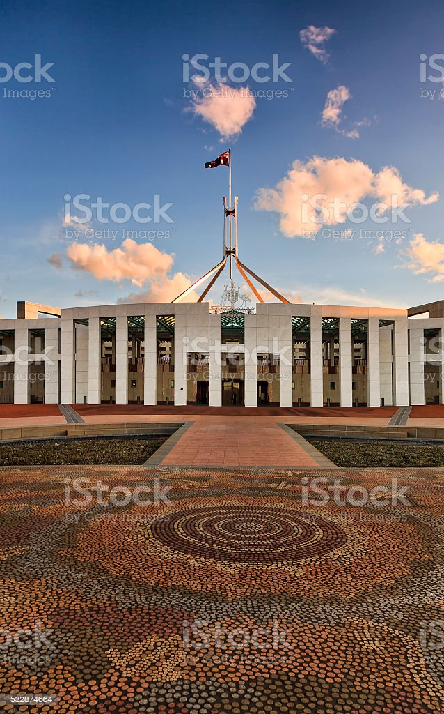 CAN Parliament Mosaic Vertical stock photo