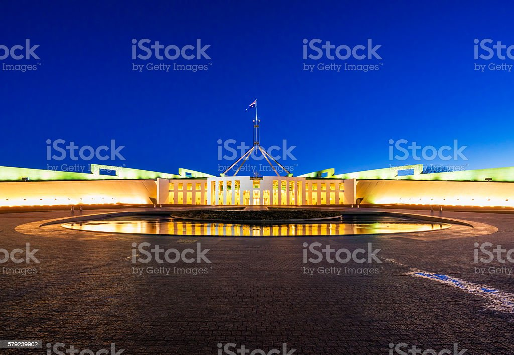 Parliament of Australia in Canberra stock photo