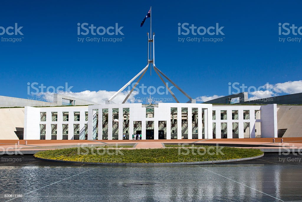 Parliament of Australia stock photo