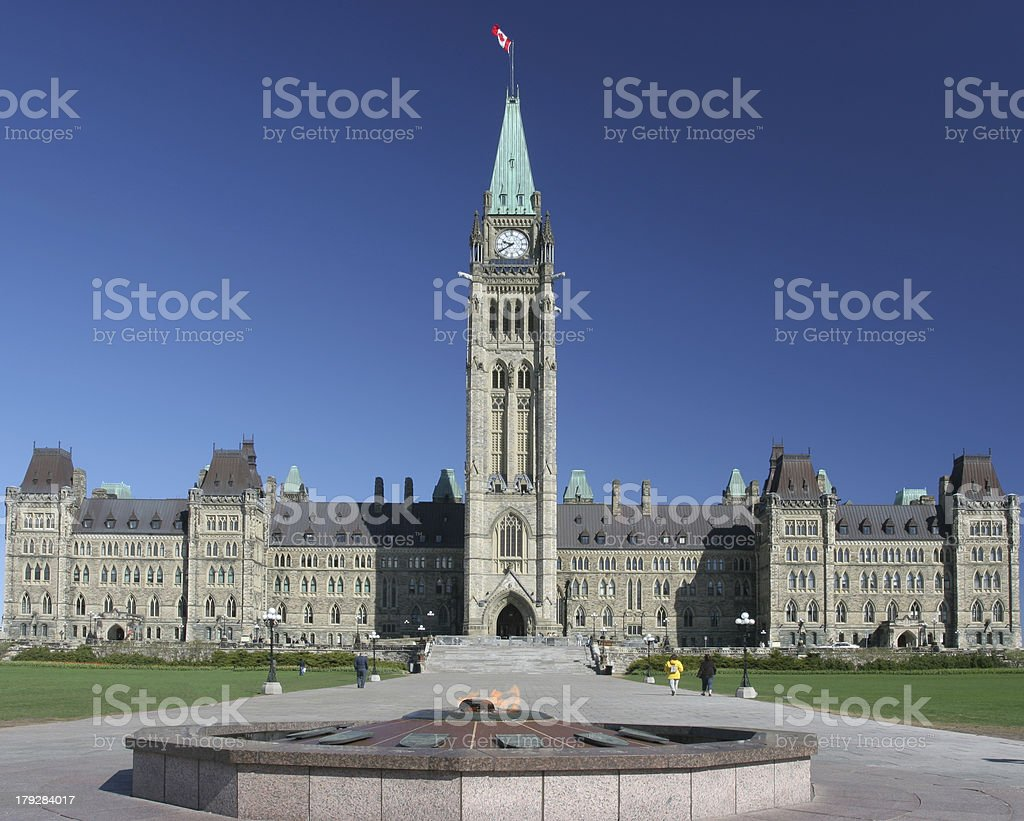 Parliament of Canada in spring royalty-free stock photo