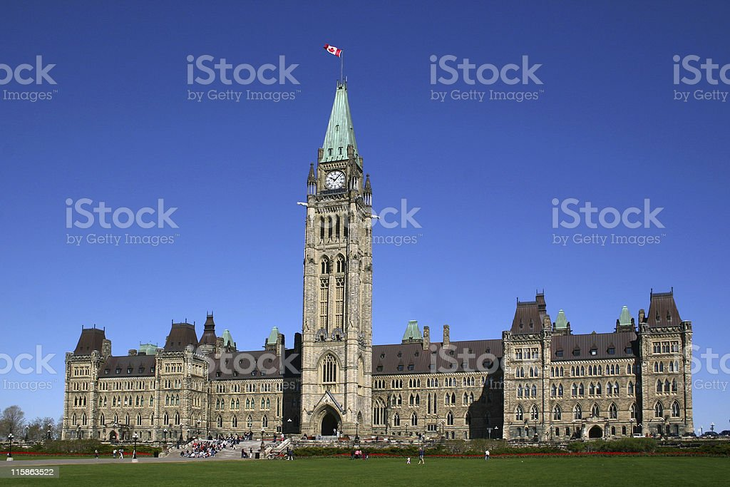 Parliament of Canada stock photo