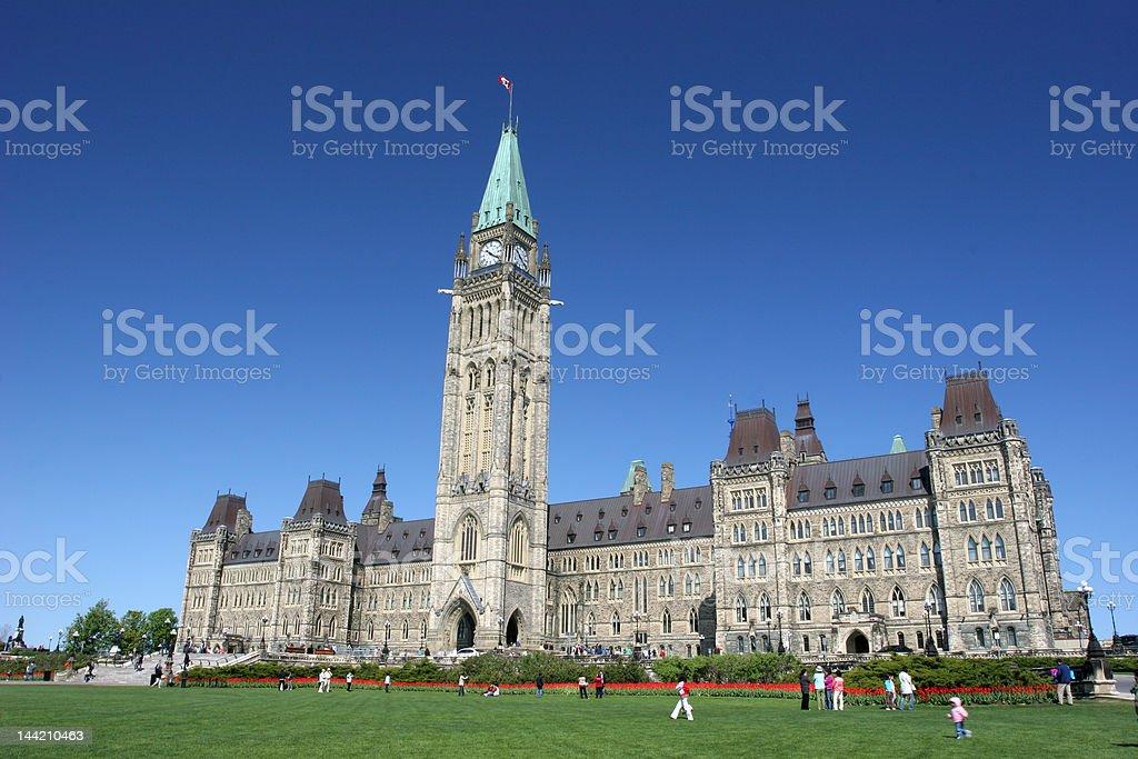 Parliament of Canada, Tulips Festival, Ottawa royalty-free stock photo