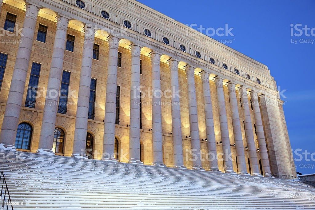 Parliament of Finland royalty-free stock photo