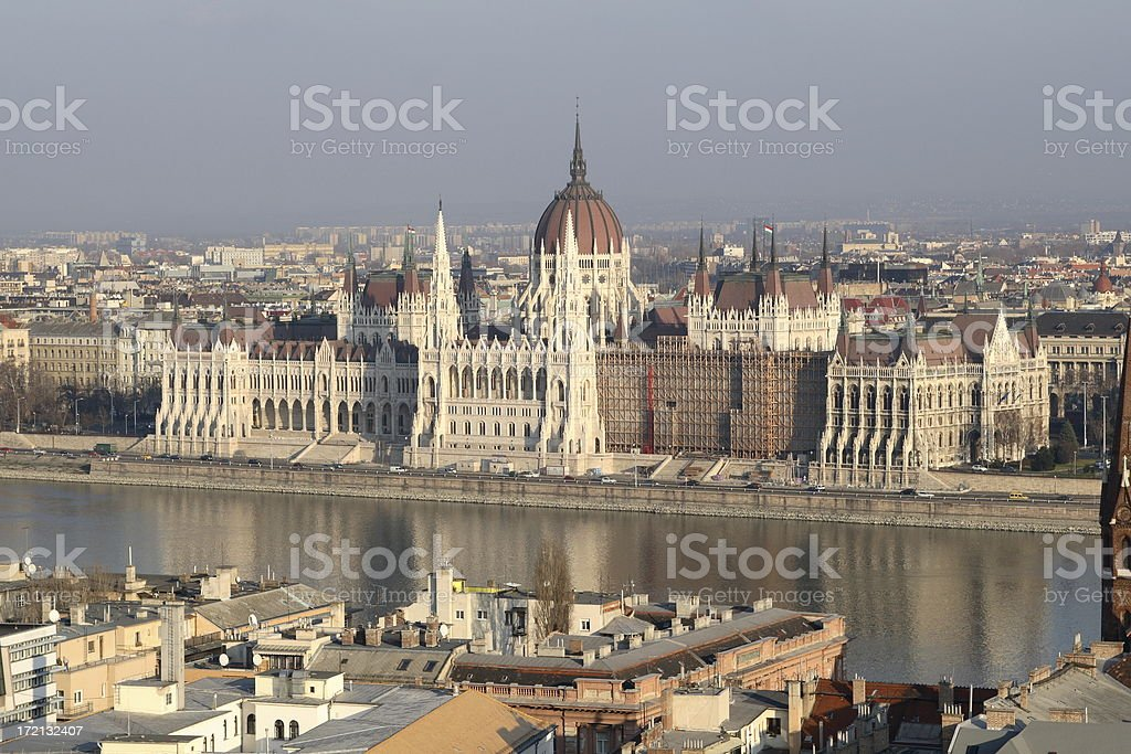 Parliament of Hungary royalty-free stock photo
