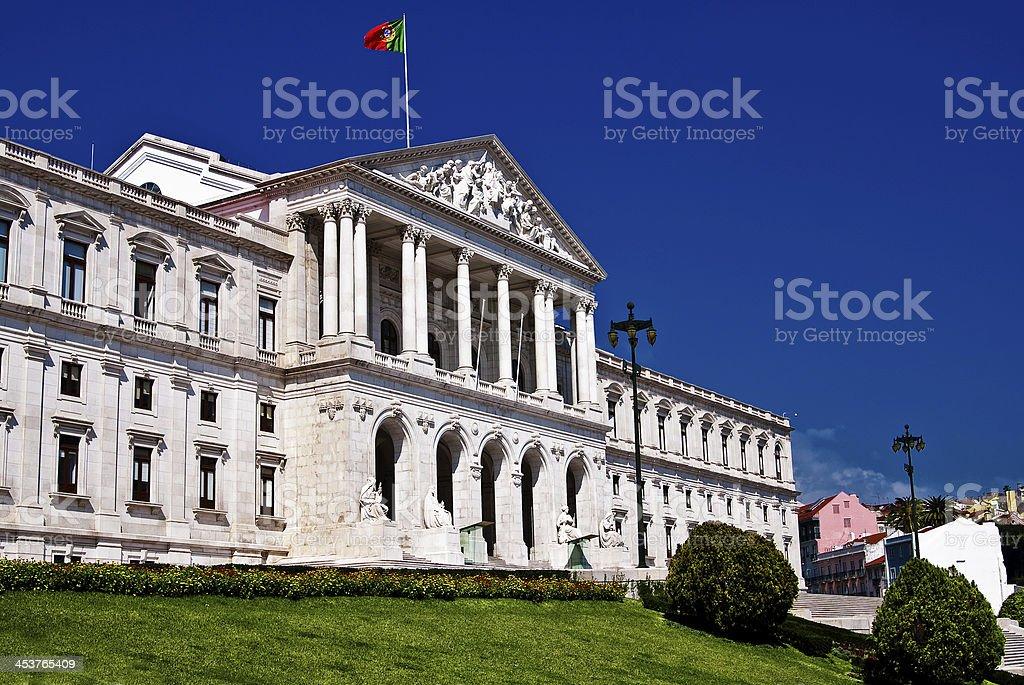 Parliament of Lisbon royalty-free stock photo