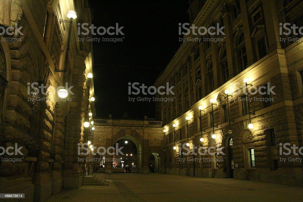 parlamento de estocolmo stock photo
