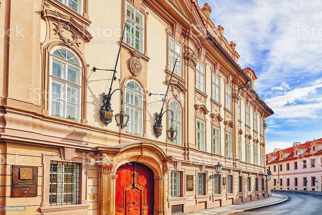 Parliament ( Senat ) of the Czech Republic. stock photo