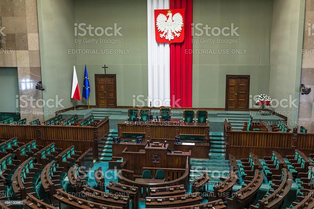 Parliament of the Poland Republic stock photo