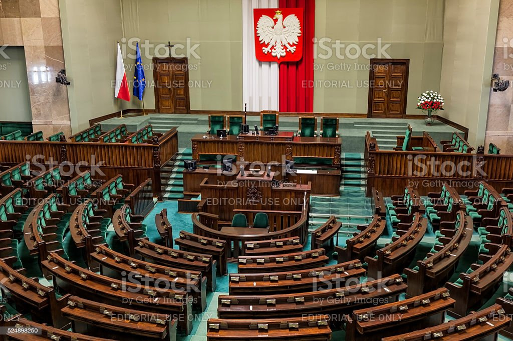 Parliament of the Poland Republic stock photo
