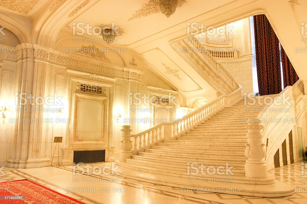 Parliament Palace - Bucharest Romania stock photo