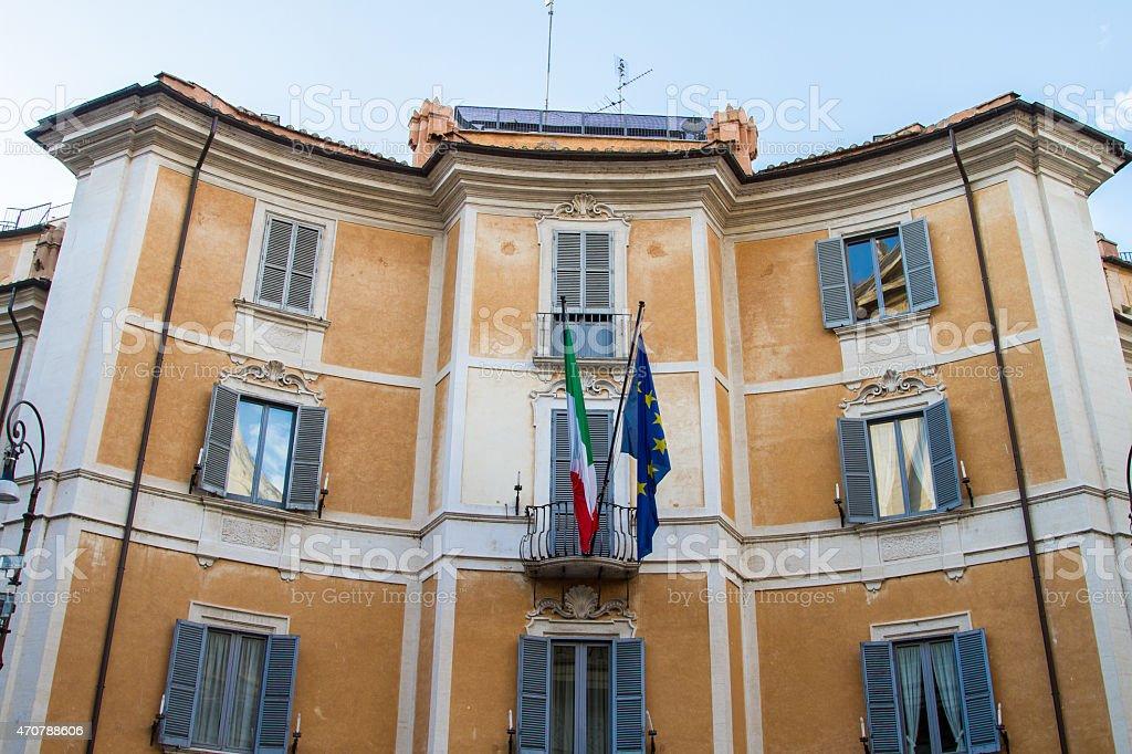 parliament rome stock photo