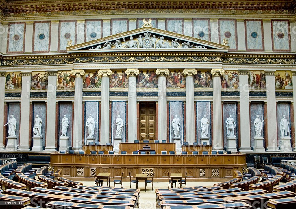 Parliament room stock photo