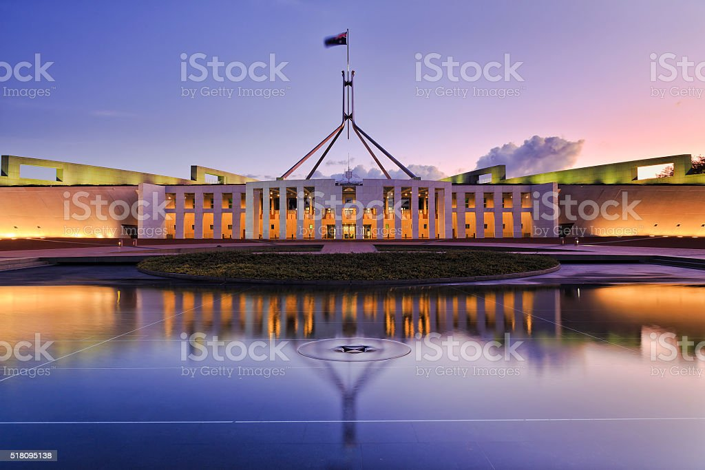 CAN parliament Set reflect stock photo