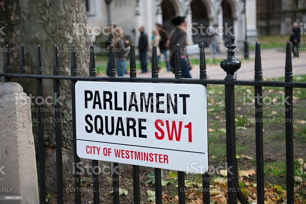 Parliament Square stock photo