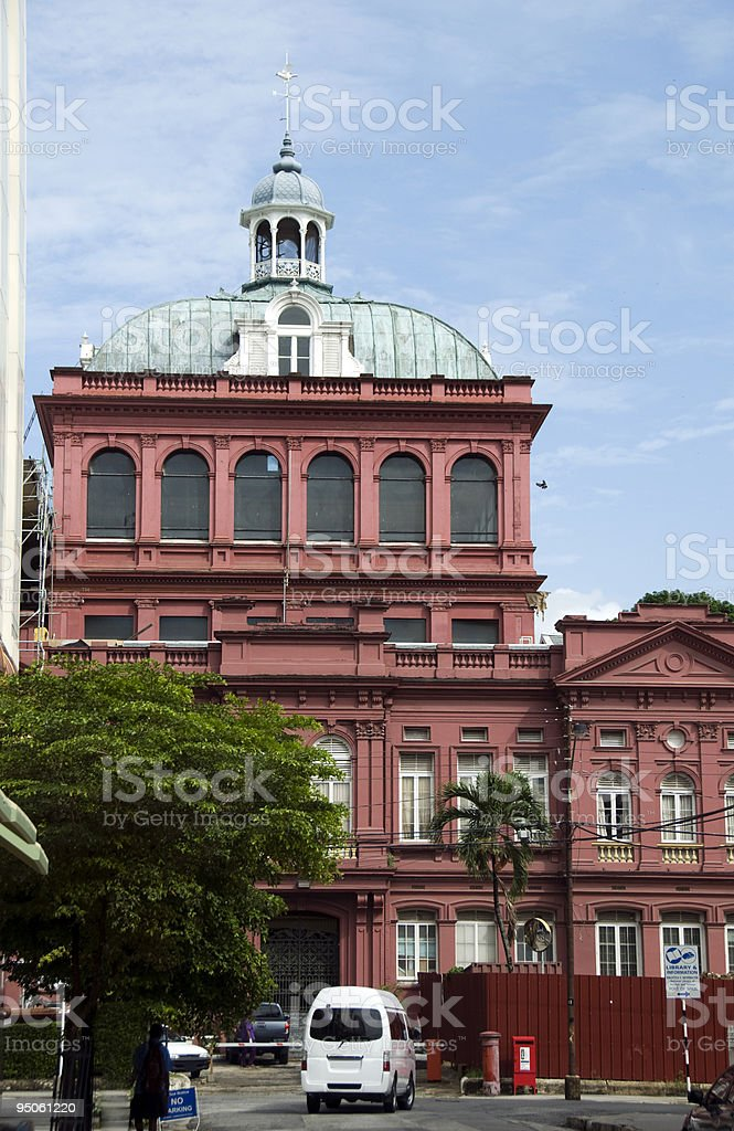parliament the red house port of spain trinidad & tobago stock photo