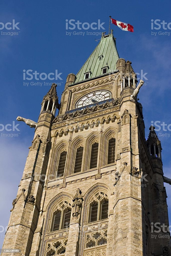 Parliament Tower royalty-free stock photo