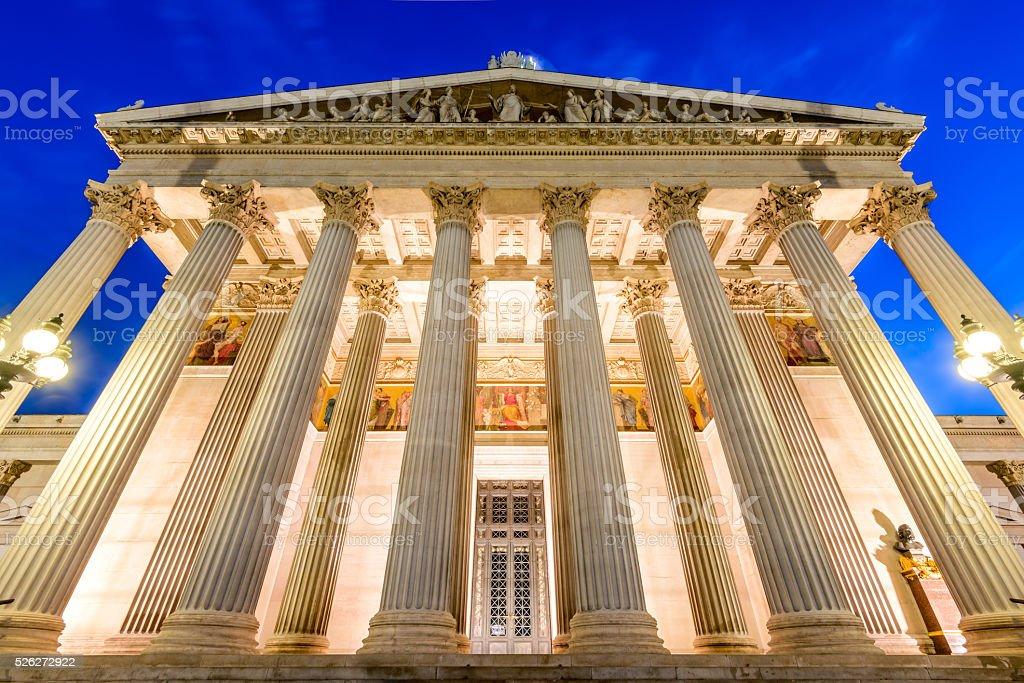 Parliament, Vienna, Austria stock photo