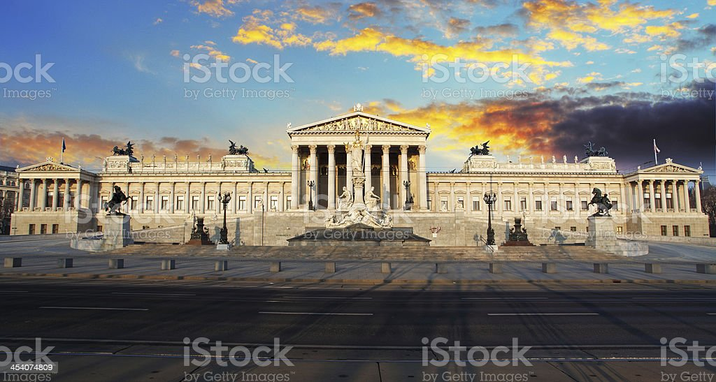 Parliament - vienna. stock photo