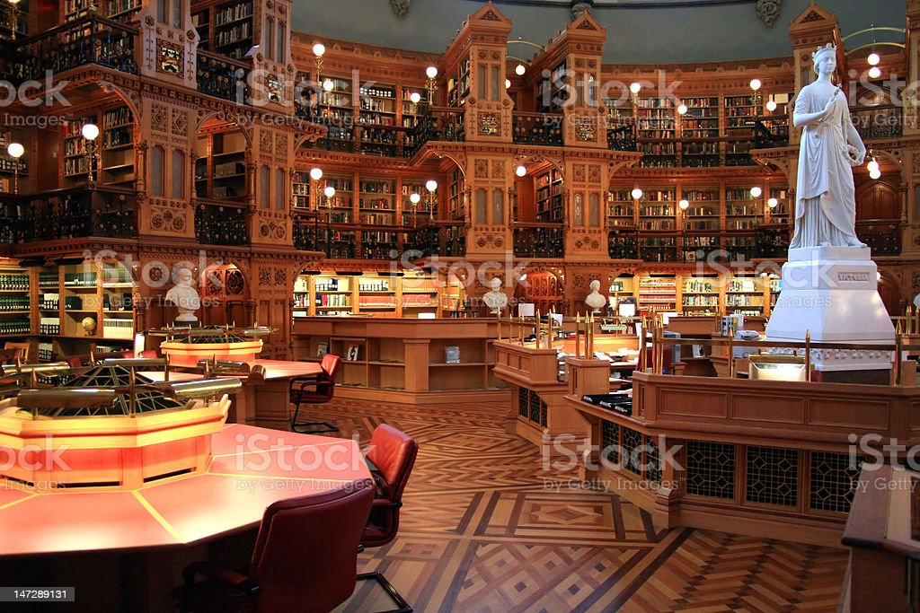 Parliament's National Library. stock photo