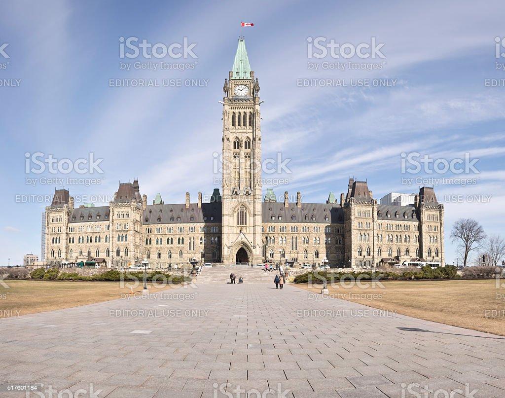 Parliment Hill, Ottawa, Canada. stock photo