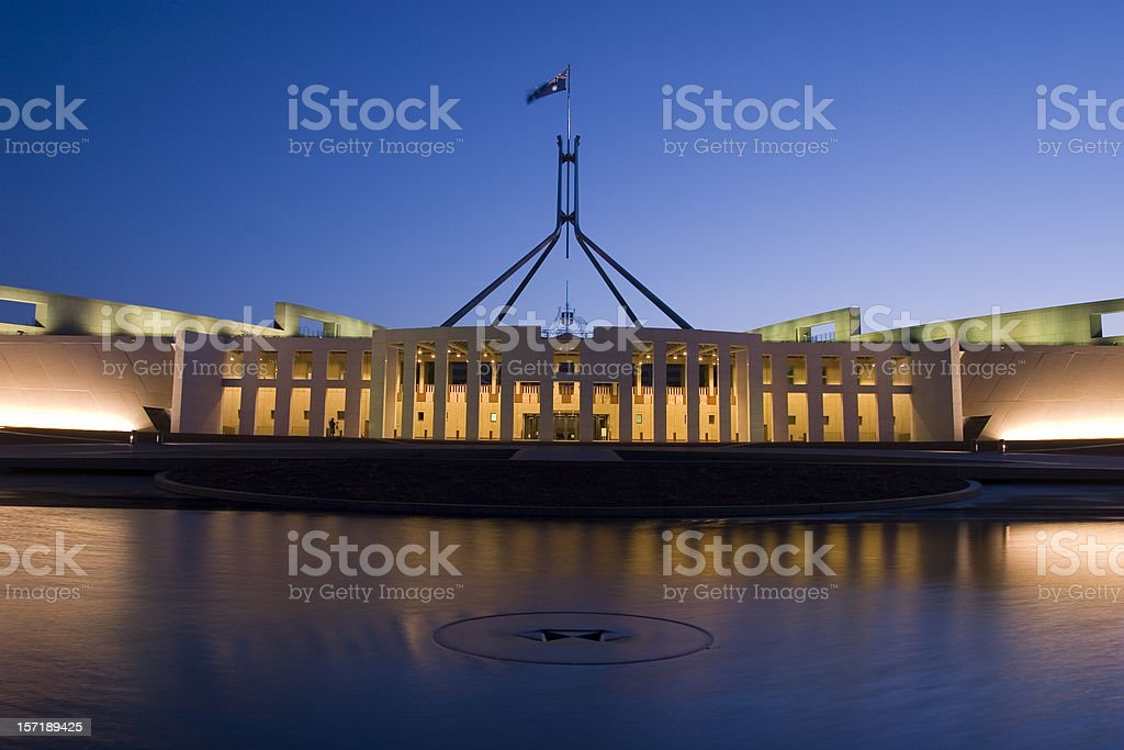 parliment house, australia stock photo