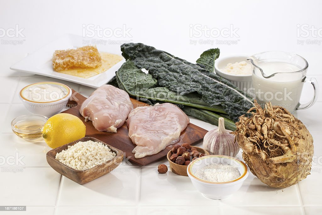Parm Chicken Ingredients royalty-free stock photo