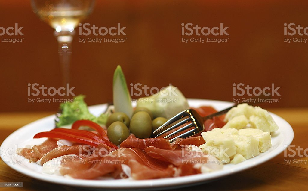 parma ham royalty-free stock photo