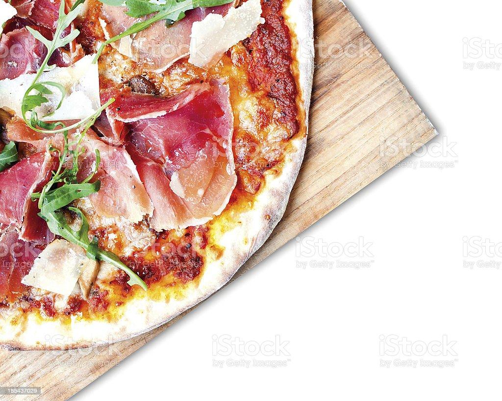 Parma Ham Pizza with Rocket royalty-free stock photo