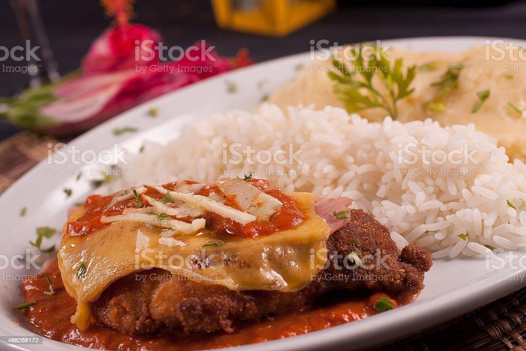 Parmegiana Chicken stock photo