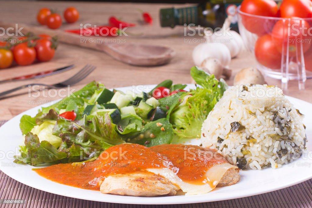 Parmegiana Filet stock photo