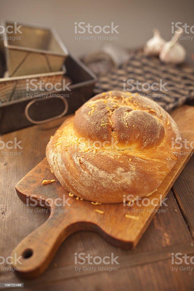 Parmesan Cheese Bread royalty-free stock photo