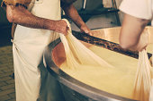parmesan cheese in the making