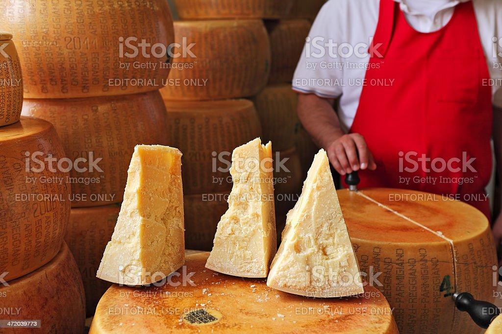 Parmesan cheese. stock photo
