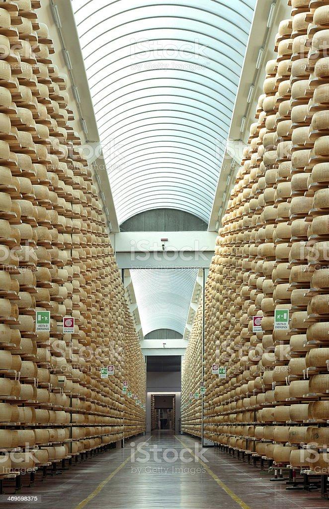 parmesan cheese storage stock photo