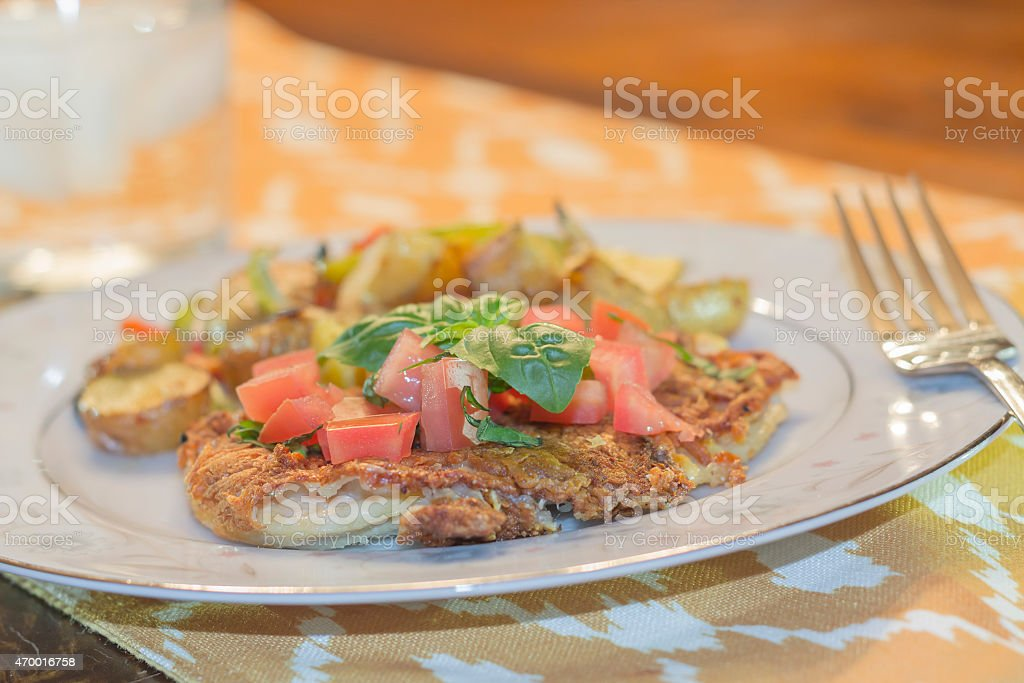 Parmesan Crusted Chicken Breast stock photo