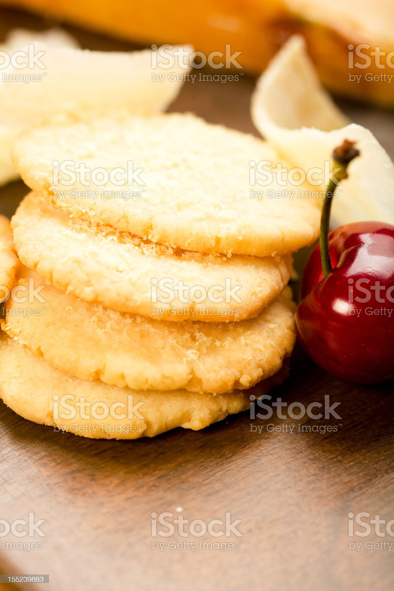 Parmesan shortbread biscuits royalty-free stock photo