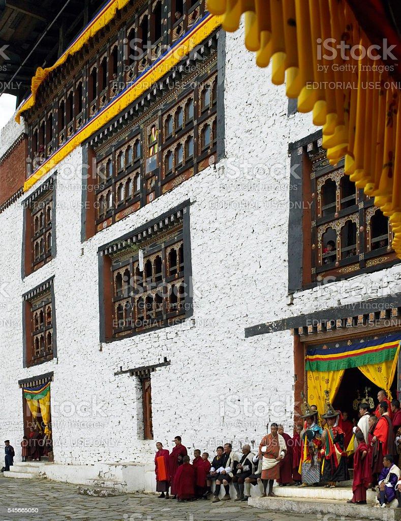 Paro Tsechu - Kingdom of Bhutan stock photo