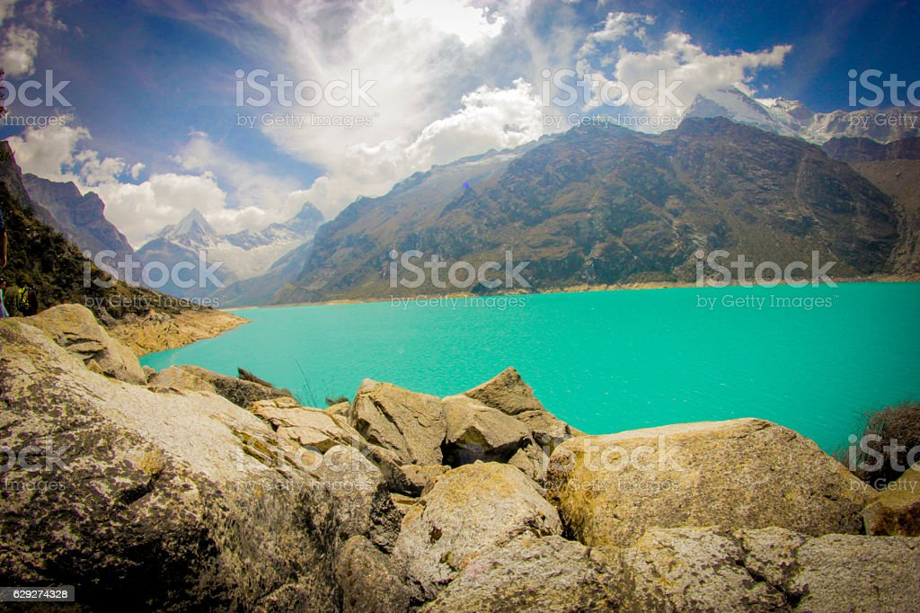 Paron Lake in Perú stock photo