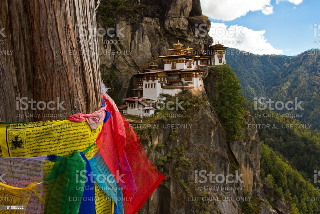 Paro's Taktsang 'Tigers Nest' Monastery, Paro, Bhutan stock photo
