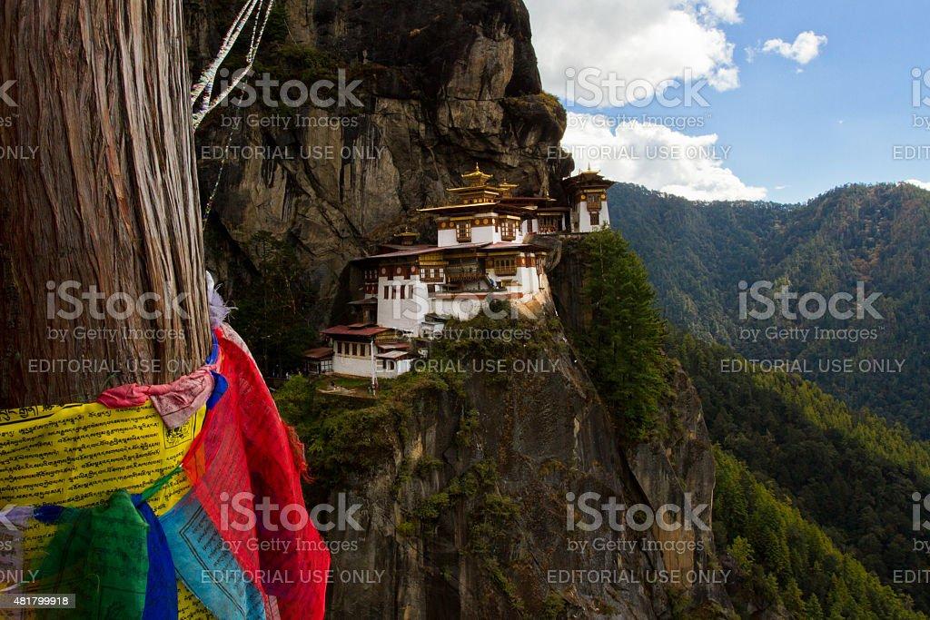 Paro's Taktsang 'Tigers Nest' Monastery, Paro, Bhutan stock photo