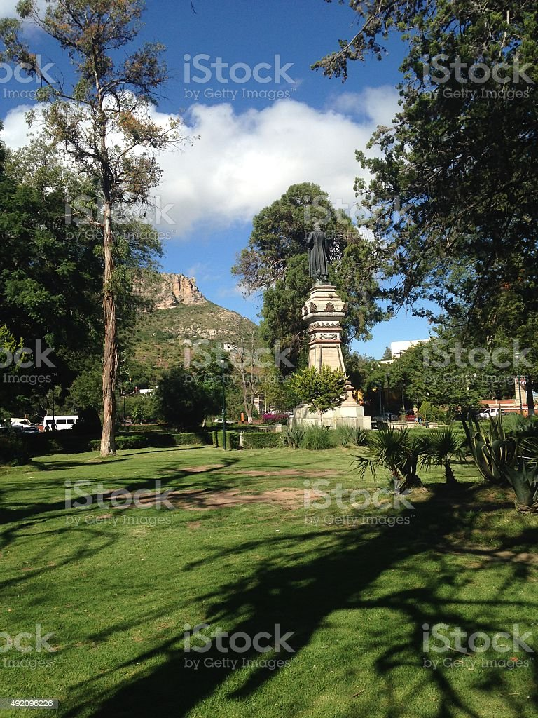 Parque de las Acacias, Guanajuato stock photo