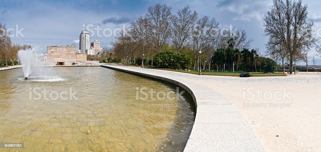Parque del Oeste Madrid royalty-free stock photo
