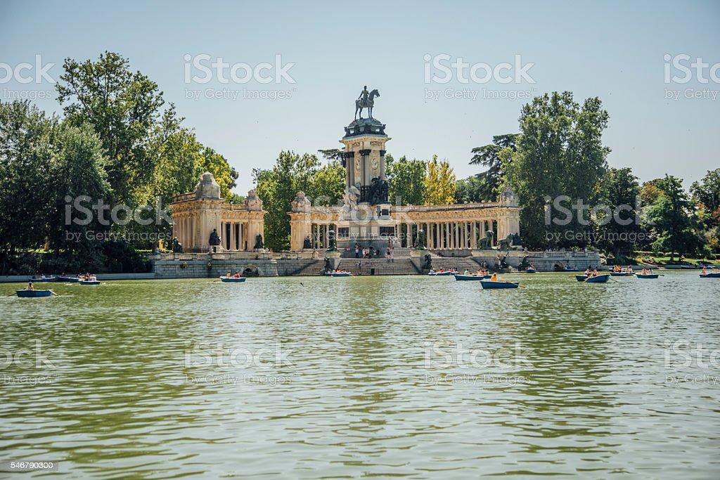 Parque del Retiro. stock photo