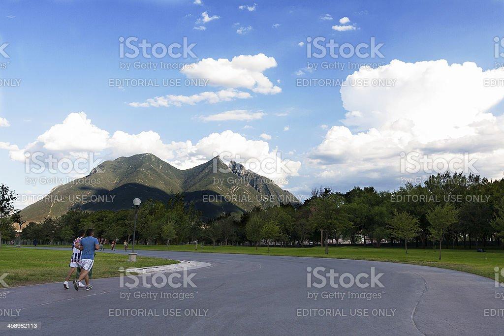 Parque Fundidora in Monterrey stock photo