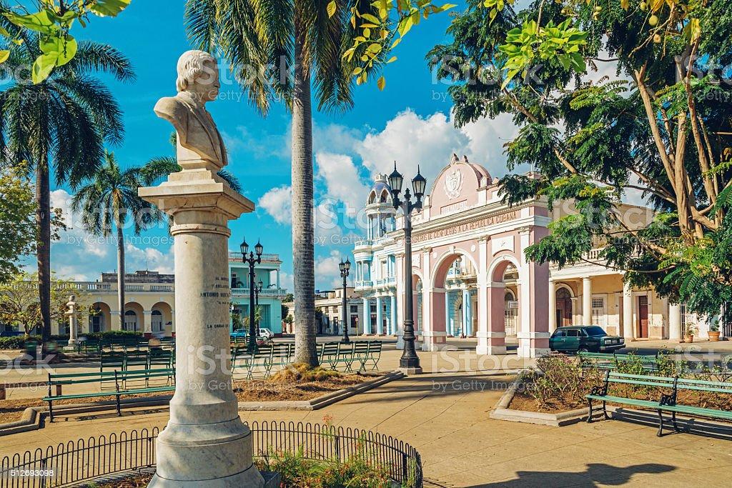 Parque Marti in Cienfuegos in Cuba stock photo