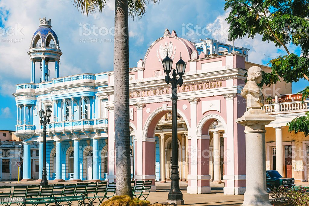 Parque Marti in Cienfuegos in Cuba stock photo