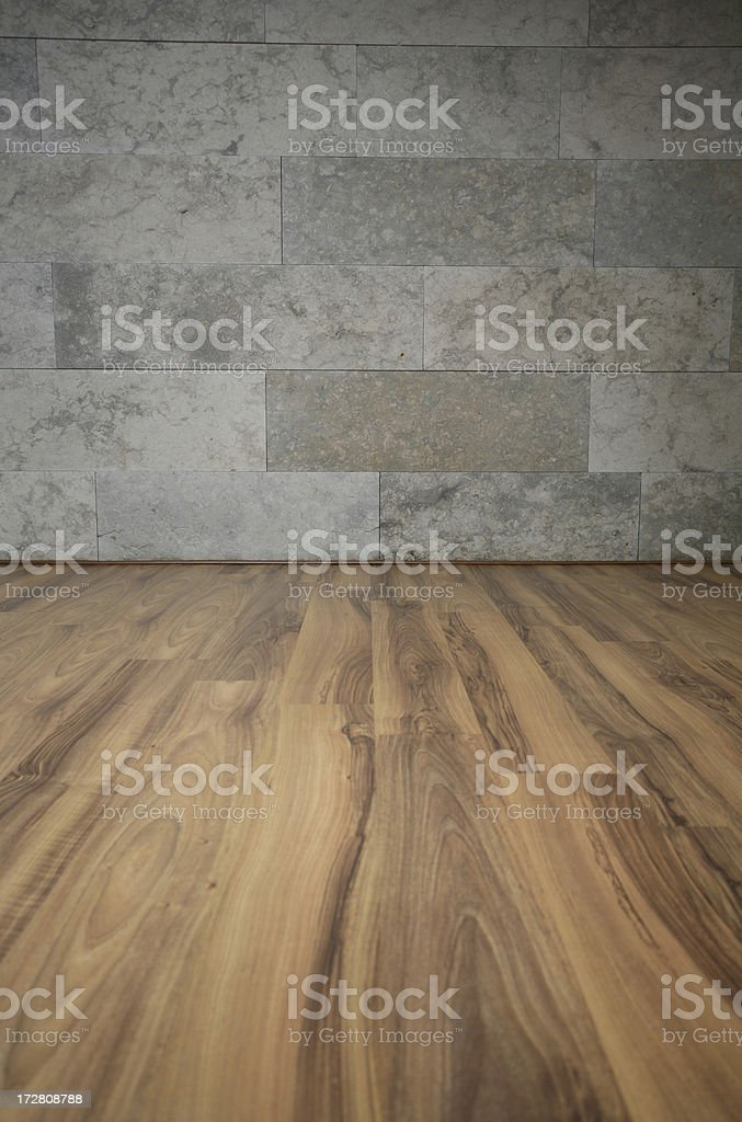 parquet and wall royalty-free stock photo