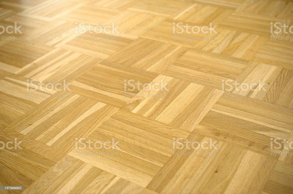 Parquet floor brown wood flooring stock photo